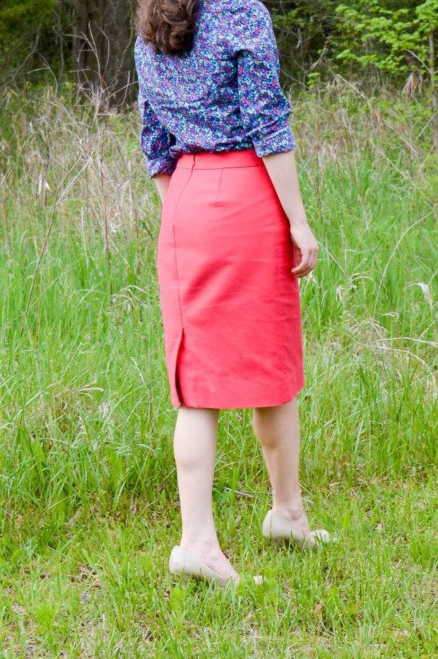 Red Pencil Skirt | Work Outfit